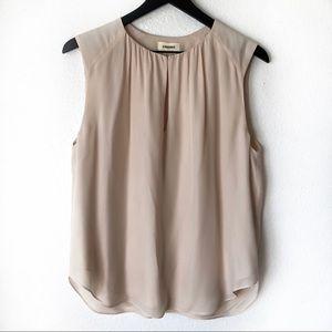 L'agence silk nude sleeveless blouse